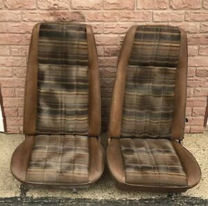 2 Old Vintage Ford Mustang Mach 1 Seats Cloth Seats
