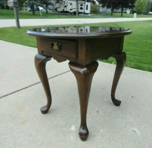 Vintage Pennsylvania House Solid Cherry Queen Anne Style End Table