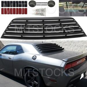 Fits 2008 2019 Dodge Challenger Window Louver Rear Cover Add on Black Pur