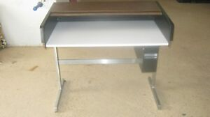 George Nelson Style Roll Top Desk