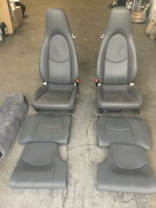 Porsche 997 2009 911 Carrera Oem Original Grey Leather Seats Front And Rear