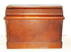 Vintage Wooden Sewing Machine Dust Cover Top Lid Tombstone
