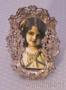 Antique Art Nouveau French Silver Plated Miniature Picture Frame
