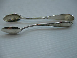 Vintage German Hallmarked Silver 800 Stamped Sugar Tongs In V Good Condition