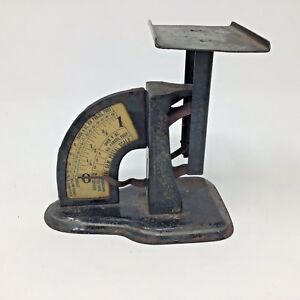 Antique Postage Scale The Gem Spring Loading Works Vintage