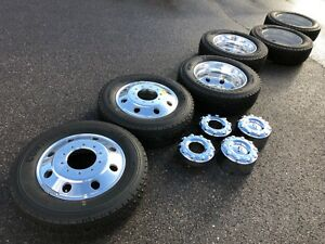19 5 Ford F450 F550 Superduty Oem Factory Stock Wheels Rims Dually 10x225 Tires