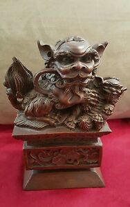 Bombay Company Chinese Asian Foo Dog Statue Feng Shui Rare Discontinued 2000