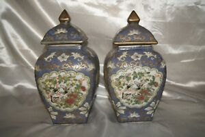 Wonderful Pair Of Chinese Ginger Jars And Plate Marked Tongzhi