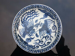 Chinese Blue And White Phoenix Dishes Ming Wanli Marks And Period