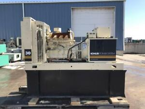 __33 Kw Kohler Generator Set 12 Lead 160 Gallon Base Fuel Tank John Deere