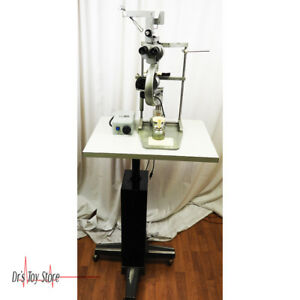 Zeiss 100 16 Slit Lamp With Stand