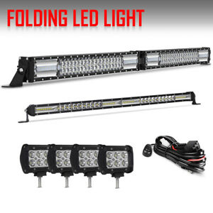 42inch Led Off Road Light Bar Combo 20in 4 Cube Pods For 4wd Ute Ford Jeep 40