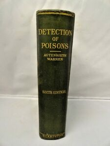 Antique Medical Book Lab Detection Of Poisons Blakiston 1928 Hardcover Rare
