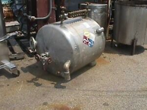 100 Gallon Stainless Steel Tank Dished Top And Bottom Reduced