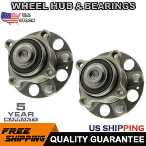 For 2x 2008 2012 Honda Accord Rear Replacement Wheel Hub Bearing Assembly 5 Stud