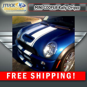 Mini Cooper 7 Twin Rally Stripes Clubman Paceman Cooper S Fit All Yr Models