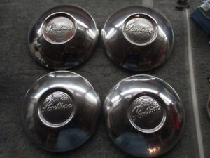 1949 1950 Pontiac Set Of Hubcaps Wheel Cover Dogdish Cheiftan Hubcap Covers