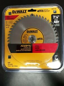 Dewalt Dwa7766 7 1 4 48 Teeth Metal Cutting Blade 5 8 Arbor Max 4000 Rpm
