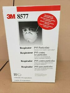 3m 8577 P95 Particulate Respirator Masks Box 10 With Cool Flow Exhalation Valve