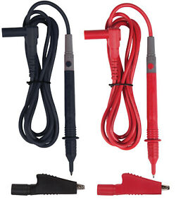 Power Probe 5ft Dmm Multimeter Test Leads Set W Clips Cat Iii Cat Iv Pptk0001