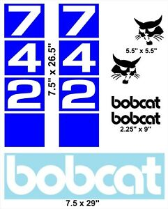 742 Replacement Decals Sticker Kit Skid Loader fits Bobcat