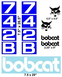 742b Replacement Decals Sticker Kit Skid Loader fits Bobcat