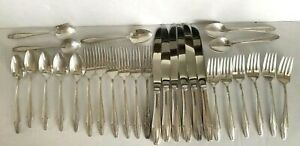 Sterling Silver State House Flatware Formality Pattern Service For 6