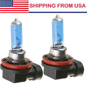 2 X H11 55w Halogen Light Bright White Car Headlight Bulbs Bulb Lamp 12v 6000k