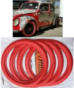 Classic 15 Red Tire Trim Portawall Vw Beetle Bug Hot Rod X4 Atlas Tyre Style