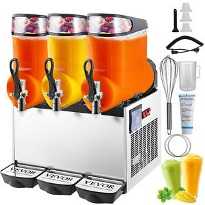 Slush Frozen Drink Machine 360mix 12l 3 900w Triple Bowl Frozen Drink Coffee