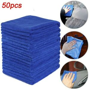50pcs Microfiber Cleaning Cloth Towel Rag Car Polishing No Scratch Car Detailing