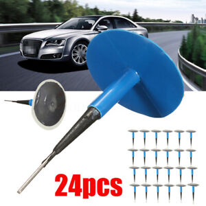 24x Auto Car Truck Tire Tyre Puncture Repair Wired 45mm 6mm Plug Mushroom Patch
