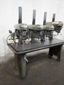 Rockwell 17 600 Multi spindle Drill Press 4 Heads 15 23 1 2 X 77 Table