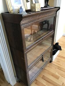 Clean Barrister Lawyers Oak Stacking Bookcase Showcase Wow Old Antique