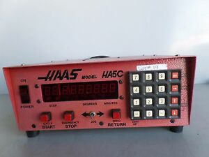 Software 31 Brush 17 Pin Haas Control Box Sco1m Rotary Table Indexer Inv 19 Lms