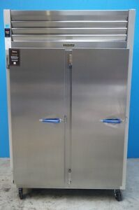 New Traulen 2 Section Pass Through Hot Food Holding Cabinet With Left Hinged