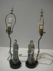 Antique Chinese Porcelain Figures Table Lamp
