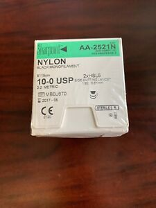 Sharpoint Suture 10 0 Usp Nylon Side Cutting Lancet 2xhsl5 5 51mm Usa Made