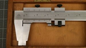 Nice Cse Vernier Caliper 27 Made In Germany With Wood Case