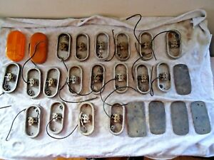 Vintage Mixed Lot Of Over 20 Dietz 59 Clearance Light Housings other Misc item