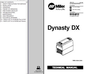 Miller Dynasty Dx Service Technical Manual