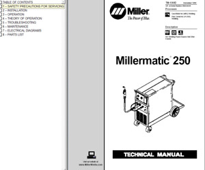 Miller Millermatic 250 Service Technical Manual