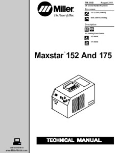 Miller Maxstar 152 And 175 Service Technical Manual