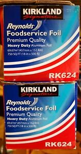 Two Kirkland Signature Reynolds Heavy Duty Aluminum Foil Roll Rk624 18 X 500 Ft