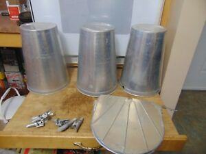 3 Maple Syrup Aluminium Sap Buckets Plus 3 Lids Covers Plus 3 Taps Spiles Spouts