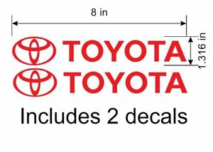 2pcs Toyota Logos Decals For Tundra Supra Mr2 Celica Corolla Fj 4runner Tacoma