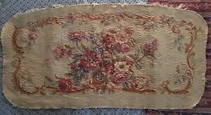 Antique Hand Woven French Tapestry Chair Sofa Cover Floral Design