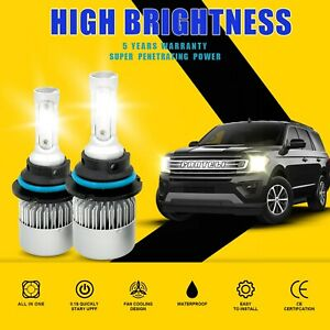 9004 Hb1 2400w 360000lm Cree Cob Led Headlight Kit Hi lo Power Bulbs 6000k White