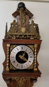 Antique Vintage Franz Hermle Wood Brass Cuckoo Clock Made In Holland