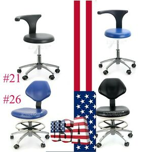 New Pu Leather Dental Rotation Mobile Chair Adjustable 360 Stool Dentist Chair